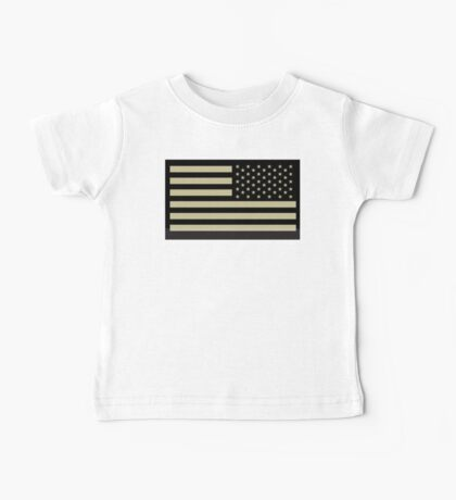 AMERICAN ARMY, Soldier, American Military, Arm Flag, US Military, IR, Infrared, USA, Flag Baby Tee