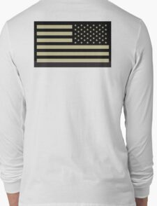AMERICAN ARMY, Soldier, American Military, Arm Flag, US Military, IR, Infrared, USA, Flag Long Sleeve T-Shirt