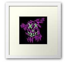 Suicidal Thoughts... Framed Print