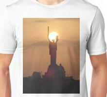 Sunset beyond the Motherland Monument, Kiev, Ukraine Unisex T-Shirt