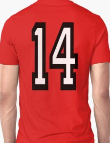 14, TEAM SPORTS, NUMBER 14, FOURTEEN, FOURTEENTH, Competition,  T-Shirt