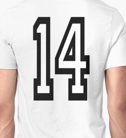 14, TEAM SPORTS, NUMBER 14, FOURTEEN, FOURTEENTH, Competition,  Unisex T-Shirt