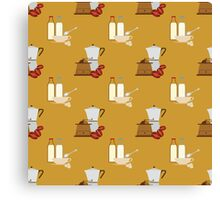 coffee pattern Canvas Print