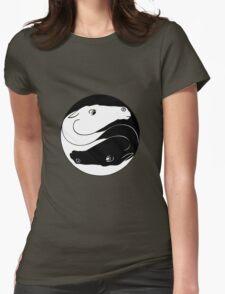 Horse Yin Yang Womens Fitted T-Shirt