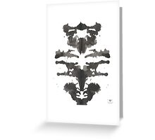 Owl ink blot  Greeting Card