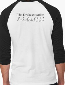 Aliens, The Drake equation, SETI, Alien, search for extraterrestrial life, Contact, Is there anyone there? Men's Baseball ¾ T-Shirt