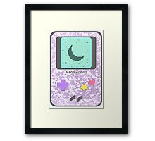Magical Girl Game Console Framed Print