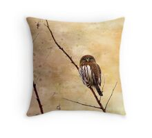 Pygmy Owl Throw Pillow