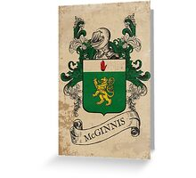 McGinnis Coat of Arms (Ireland) Greeting Card