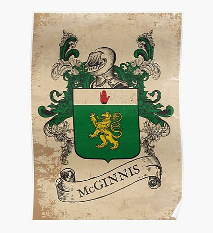 McGinnis Coat of Arms (Ireland) Poster