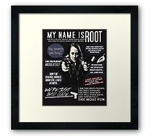 Root - Person of interest - Amy Acker Framed Print