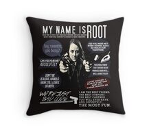 Root - Person of interest - Amy Acker Throw Pillow