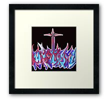 Graffiti cross Framed Print