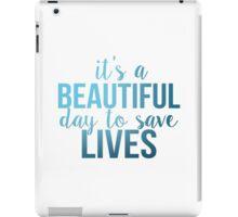 Grey's Anatomy McDreamy Quote 6 iPad Case/Skin