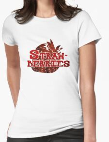 Strawberries Design Womens Fitted T-Shirt