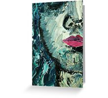 Blue woman oil painting Greeting Card