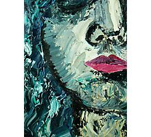 Blue woman oil painting Photographic Print
