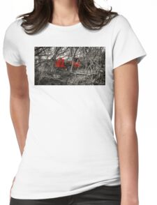 Montreal West side abadoned truck  Womens Fitted T-Shirt