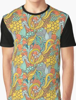 Floral seamless color vintage Graphic T-Shirt