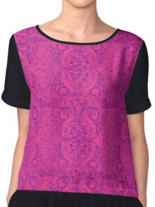 Floral seamless pattern graphic Chiffon Top