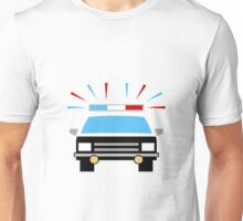 Black and White Police Car Unisex T-Shirt