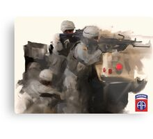 82nd Firefight Metal Print