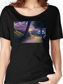 Path to Sunset Sea Women's Relaxed Fit T-Shirt