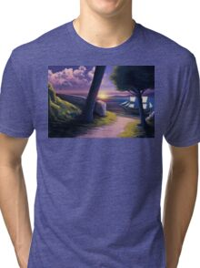 Path to Sunset Sea Tri-blend T-Shirt