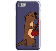Hilarious Cool Otter Playing Saxophone iPhone Case/Skin