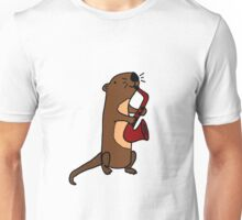 Hilarious Cool Otter Playing Saxophone Unisex T-Shirt