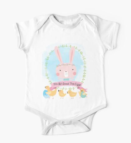 Easter Bunny All About the Eggs One Piece - Short Sleeve