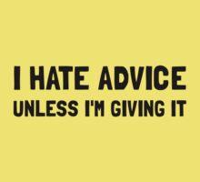 Hate Advice Baby Tee