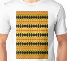 Black Diamonds on Orange Unisex T-Shirt