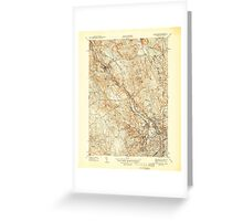 USGS TOPO Map Rhode Island RI Pawtucket 353437 1944 31680 Greeting Card