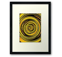 Convoluted Yellow  Framed Print