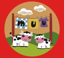 Laundy Cows One Piece - Short Sleeve