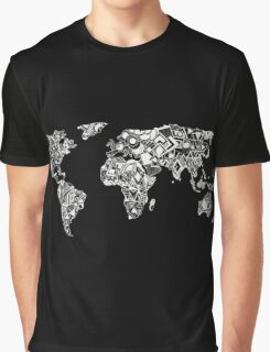 World Map in a mathematician universe Graphic T-Shirt