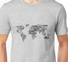 World Map in a mathematician universe Unisex T-Shirt