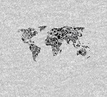 World Map in a mathematician universe Unisex T-Shirt