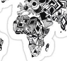 World Map in a mathematician universe Sticker
