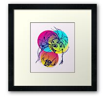 Dragon Half Framed Print