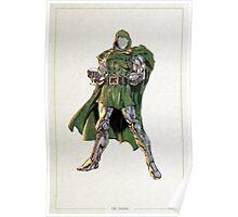 Dr. Doom Digital Watercolor  Poster
