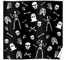 Skeleton Dance in Black Poster