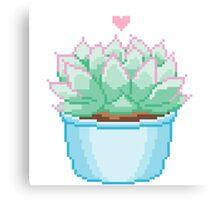 Pixel Cactus Canvas Print