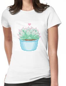 Pixel Cactus Womens Fitted T-Shirt