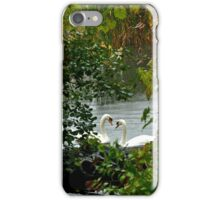 Heart Shaped Love Swans iPhone Case/Skin