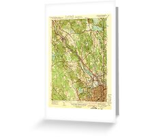 USGS TOPO Map Rhode Island RI Pawtucket 353435 1938 31680 Greeting Card
