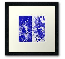 Inverted Blue On White Framed Print