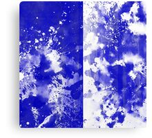 Inverted Blue On White Canvas Print