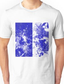 Inverted Blue On White Unisex T-Shirt